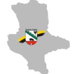 Sachsen Anhalt Umriss mit Wappen